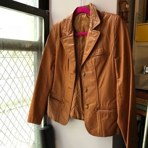 Leather Vintage Orange Coat